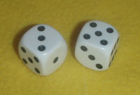 A pair of lucky dice