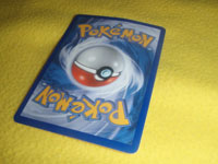 Face-down pokémon card