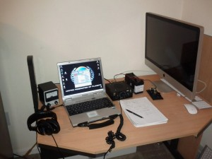 temporary station in the bedroom