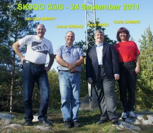 Photo with some Swedish hams in front of the SK0QO club station