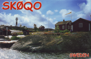 A photographic qsl card for club station sk0qo