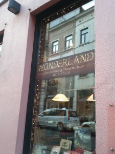 External shot of Wonderland window