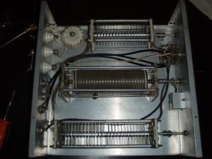 An overhead shot of the internal workings of the SA-2040