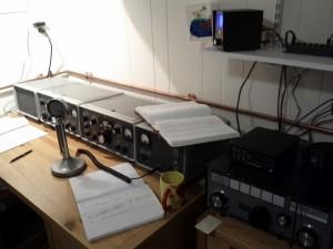 S line station, tuner, swr meter, paper log