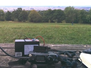 Operating position at the top of the hill. The hills are alive with the sound of CW.
