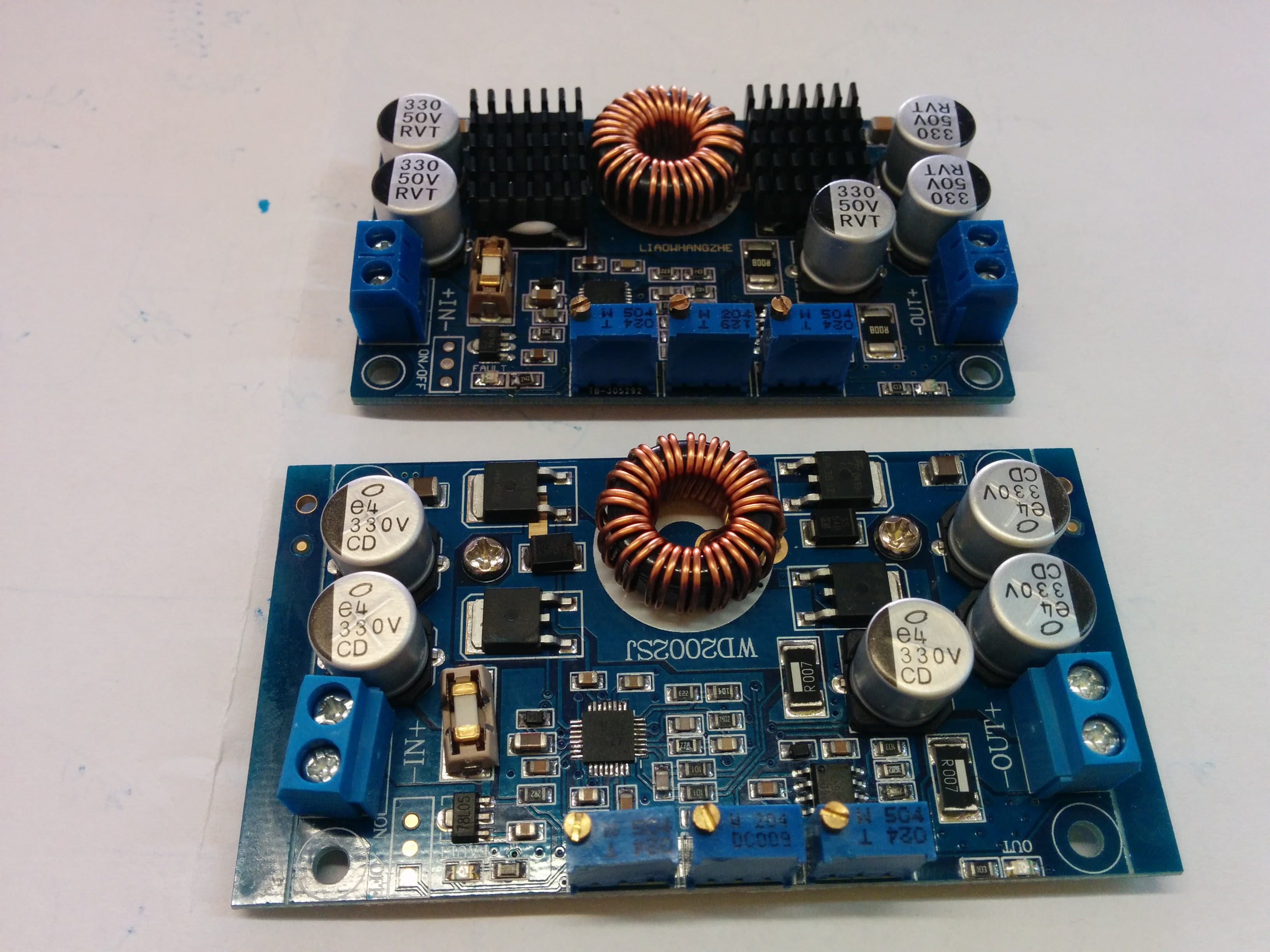 Variable Power Supply Module Blaise The Baker High Current Adjustable Circuit 030v 20a Using Lm338 Powermodulefront Powermodulerear Switcher