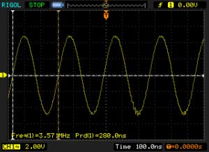 sinusoidal oscilloscope trace