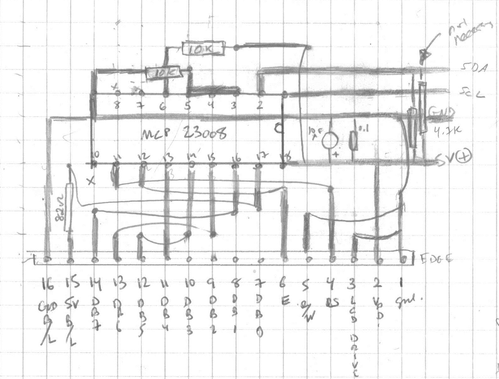 Vfo In A Box Dhakajack Radio Circuits Blog Hf Push Pull Broad Band Amplifier Circuit Pencil Drawing Of Trace Routing For The Backpack And Lcd Display