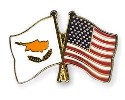Cyprus and USA flag