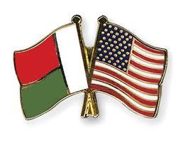 USA and Madagascar flag